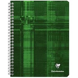 Cahier à reliure intégrale Clairefontaine - 17x22 cm - 100 pages - quadrillé 5x5 (photo)