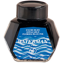 Flacon d'encre Waterman - bleu - 5cl (photo)