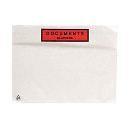 Pochettes expédition auto-adhésives documents ci-inclus - 225x165mm - boîte de 1000 (photo)