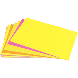 Feuilles affiche fluo - 90 g - 40x60 cm - 5 couleurs assorties - paquet de 25 (photo)