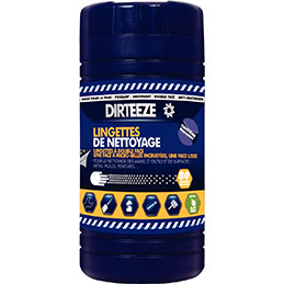 Lingettes désinfectante mains/outils/surface DIRTEEZE - boîte distributrice de 80 (photo)