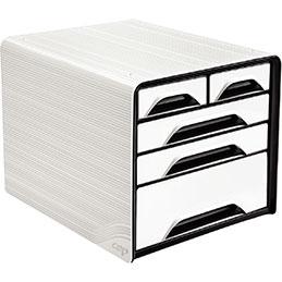 Module 5 tiroirs panachés  CEP - blanc/noir (photo)