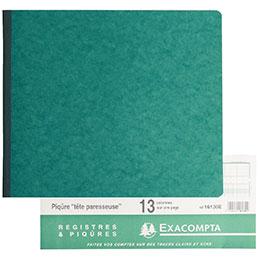 Cahier piqûre à l'italienne Exacompta - 80 pages  - 32x27 cm - 13 colonnes sur 1 page (photo)