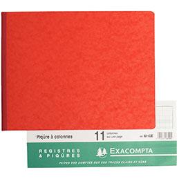 Cahier piqûre à l'italienne Exacompta - 25x32 cm - 80 pages - 11 colonnes sur 1 page (photo)