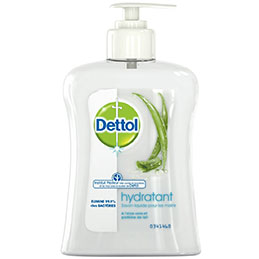 Flacon pompe savon liquide hydratant Dettol - 240ml (photo)
