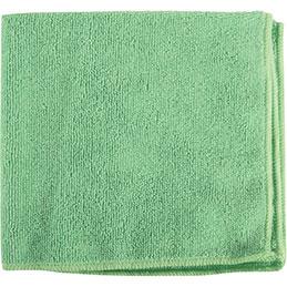 Chiffons microfibres tricotée - vert - paquet de 5 (photo)