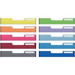 Frontons colorés  pour tiroirs Modulodoc - Standard - Set de 10 (photo)