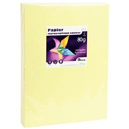 Papier - 80 g - A3 - jaune vif - ramette de 500 feuilles
