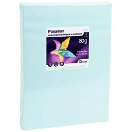 Papier - 80 g - A3 - bleu vif - ramette de 500 feuilles