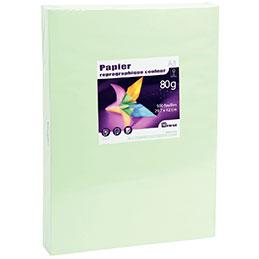 Papier - 80 g - A3 - vert vif - ramette de 500 feuilles
