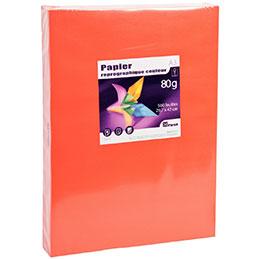 Papier - 80 g - A3 - rouge - ramette de 500 feuilles