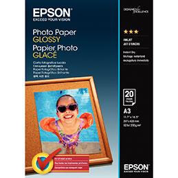 Papier photo - glacé - 200 g - A3 - paquet de 20 feuilles (photo)