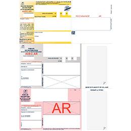 Imprimés recommandés avec AR - boîte de 1000