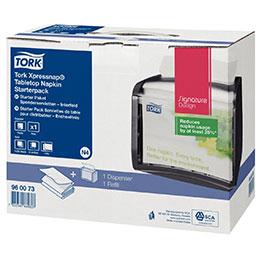 Distributeur serviette Tork - rechargeable - noir (photo)