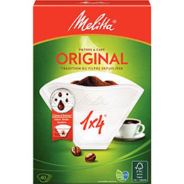 Boîte de 40 filtres à café n°4 (paquet 40 unités) (photo)