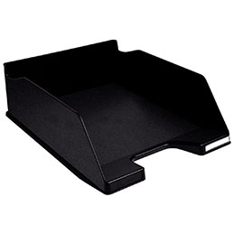 corbeille à courrier COMBO Maxi A4+, 100 % recyclé  Noir (photo)