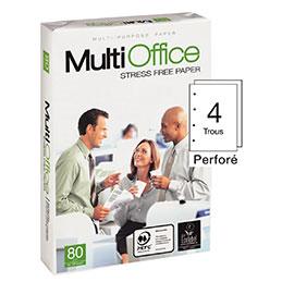 Papier blanc Multi Office perforé 4 trous - 80 g - A4 - ramette de 500 feuilles (photo)