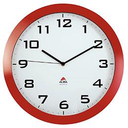 Horloge silencieuse Alba - diamètre 38cm - rouge (photo)