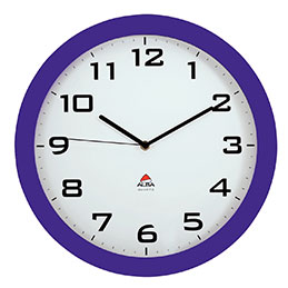 Horloge silencieuse Alba - diamètre 38cm - prune (photo)