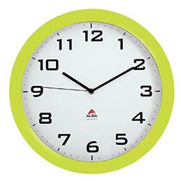 Horloge silencieuse Alba - diamètre 38cm - vert anis (photo)