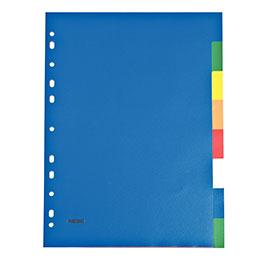 Intercalaires - polypropylène 12/100ème - A4 - couleurs assorties - jeu de 8 (photo)