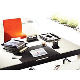 Corbeille à courrier acrylight CEP - noir (photo)