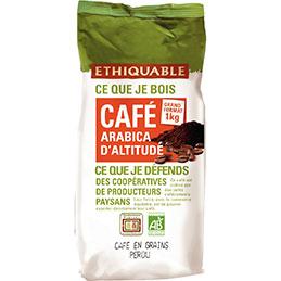 Café grain bio Ethiquable - paquet de 1kg (photo)