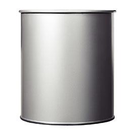 Corbeille à papier métal Rossignol - 30 litres - gris (photo)