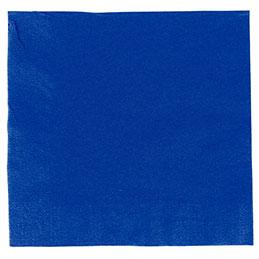 Serviettes ouate - 33x33 - bleu marine - paquet de 50 (photo)