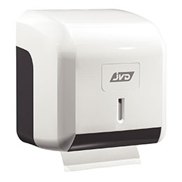 Distributeur papier hygiénique JVD - mini ABS - blanc (photo)