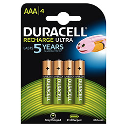 Duracell - Pile rechargeable AAA 850A - Blister de 4 (photo)