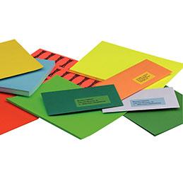 Etiquettes - 105x148.5 mm - bleu - boîte de 400 (photo)
