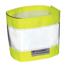 Brassard haute visibilité - jaune (photo)