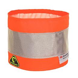 Brassard haute visibilité - orange (photo)