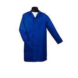 Blouse à pression - bleue - taille 36/38 (photo)