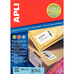 Etiquettes adhésives Agipa - extra fort - blanc - A4 - boîte de 100 (photo)