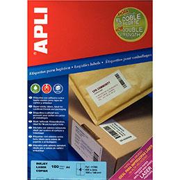 Etiquettes adhésives Agipa - extra fort - blanc - 105x148mm - boîte de 400 (photo)