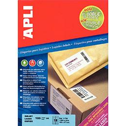 Etiquettes adhésives Agipa - extra fort - blanc - 105x37mm - boîte de 1600 (photo)