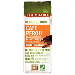 Café moulu pérou bio Ethiquable - paquet de 250g (photo)