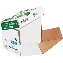 Papier blanc Navigator - 80 g - A4 - box de 2500 feuilles (photo)