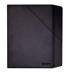 Etui rotatif pour tablette Samsung et Apple Port Europe - 9 pouces - noir (photo)