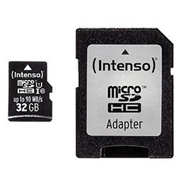 Carte mémoire Intenso micro SD UHS Professionnel - 32 GO (photo)