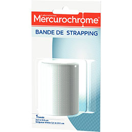 Bande de strapping Mercurochrome - 2,5x6cm (photo)