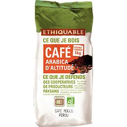 Café arabica d'altitude du Pérou moulu Bio Etiquable - paquet de 1Kg (photo)