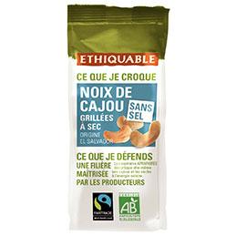 Noix de cajou grillées à sec et sans sel bio Etiquable - sachet de 100g (photo)