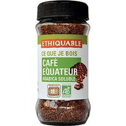 Café arabica soluble d'Equateur bio Etiquable - paquet de 85g (photo)