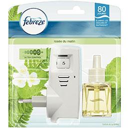 Désodorisant Electrique + recharge Febreze - parfum rosée du matin - 20ml (photo)