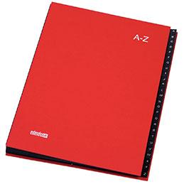 Trieur alphabétique 26 compartiments Extendos - rouge