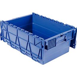 Bac navette Viso - 600x400x250 - 44 litres - avec couvercle en 2 parties bleu