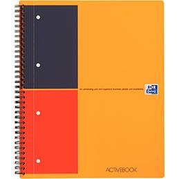 Cahier à reliure intégrale ACTIVEBOOK Oxford - A4+ - 160 pages perforées - ligné 6mm (photo)